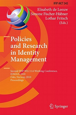 Policies and Research in Identity Management By De Leeuw, Elisabeth (EDT)
